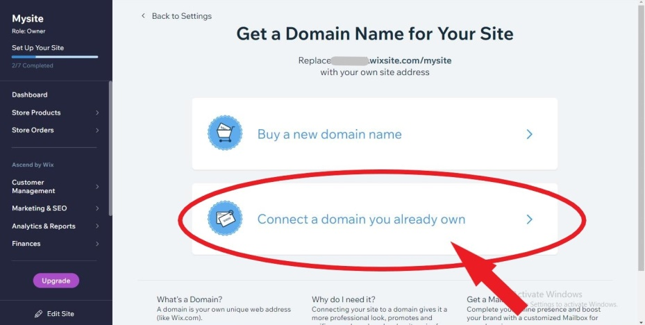 connect a domain_ how to create a link to a website